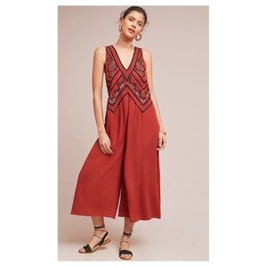 Anthro - Maeve - Desert Embroidered Jumpsuit
